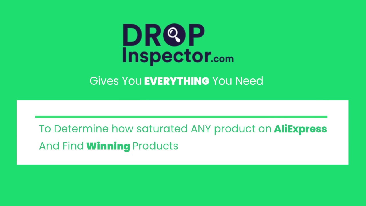 Drop Inspector – Aliexpress Competitors Research Tool