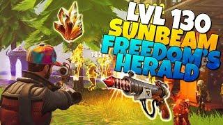 LVL 130 Freedom's Herald (Firework Pistol) IS IT GOOD? | Fortnite Save The World