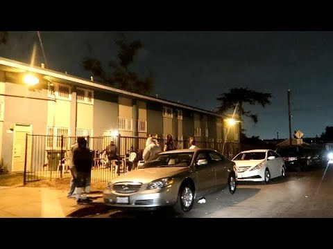 LOS ANGELES WORST HOODS AT NIGHT