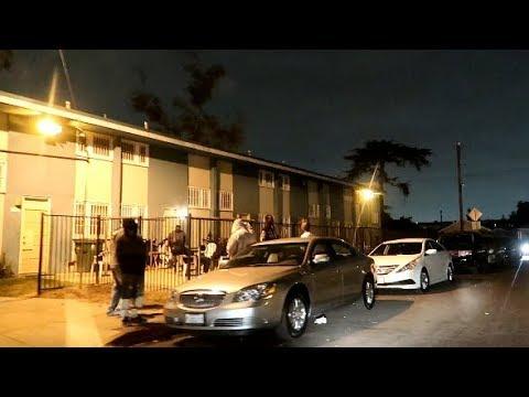 LOS ANGELES WORST HOODS AT NIGHT