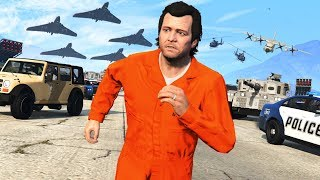 GTA 5 - 10,000 STAR WANTED LEVEL!! (Can We Escape?)