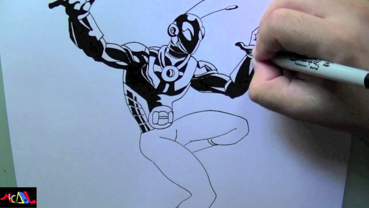 Dibujando a Hombre Hormiga  YouTube