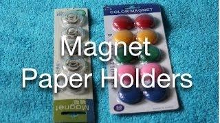Magnet Paper Holders
