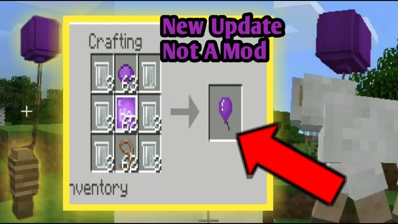 How to make an balloon in Minecraft PE New 15.15 chemistry update