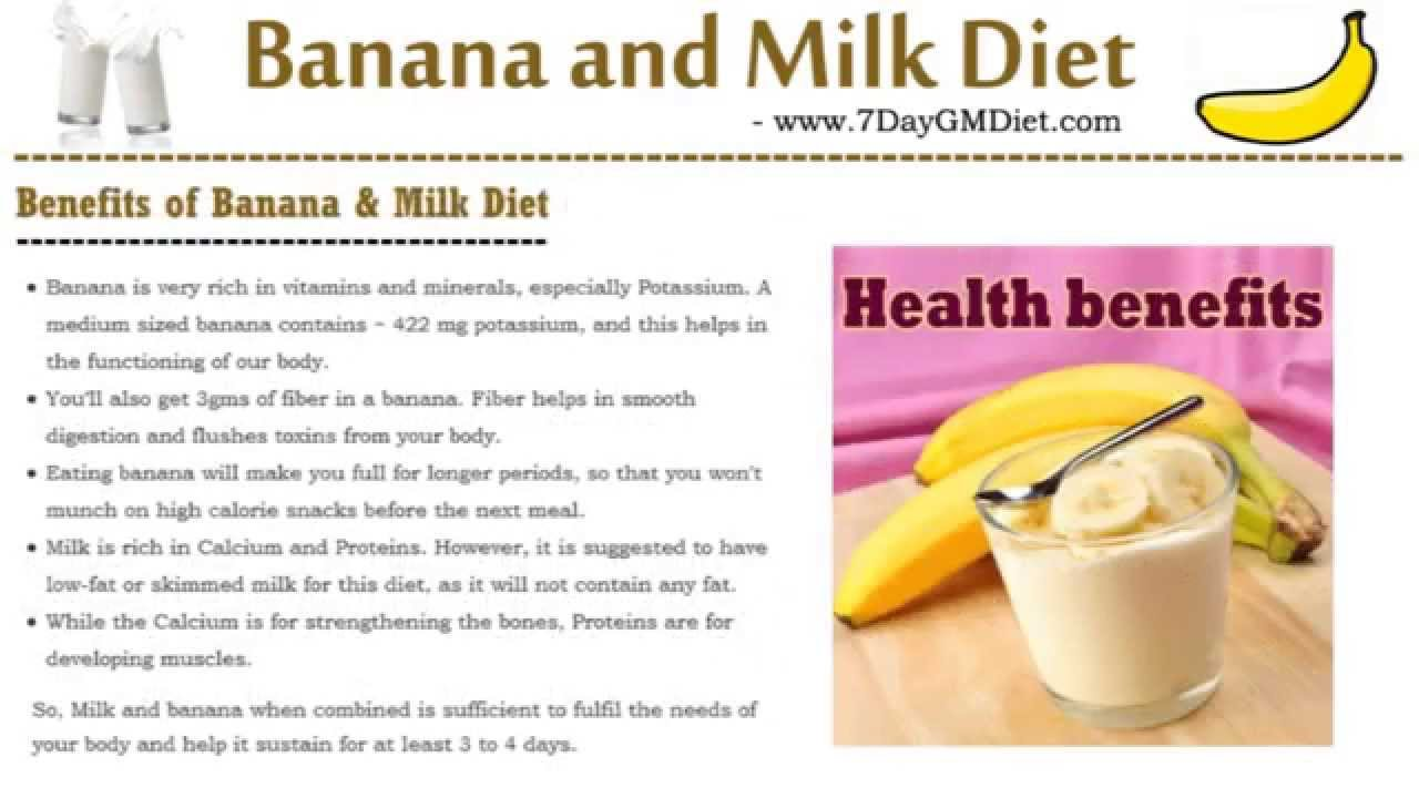 Banana Milk Diet Plan To Lose Weight Lose 3 Kgs In 4 Days