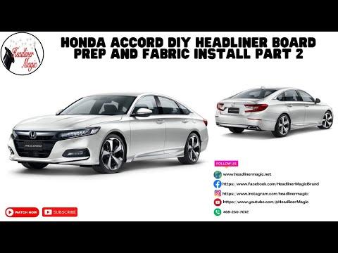 Honda Accord DIY Headliner Board Prep and Fabric Install