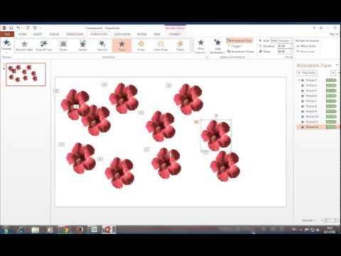 การทำดอกไม้เคลื่อนไหว โดย PowerPoint