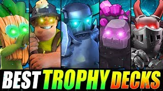 *NEW* TOP 5 BEST TROPHY PUSHING DECKS IN CLASH ROYALE!! FASTEST LADDER DECKS!
