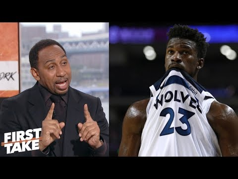 Stephen A.: Jimmy Butler hurt his trade value with heated Wolves practice | First Take