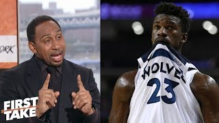 Stephen A.: Jimmy Butler hurt his trade value with heated Wolves' practice | First Take