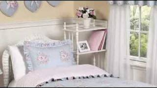 Sky Blue And Pink Shabby Chic Children's Bedding By Jojo Des