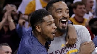 Jr smith reunited with his cavs teammates :: lebron james pressures cavaliers