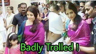 Aishwarya rai bachchan got badly trolled by people in durga pooja | latest shocking