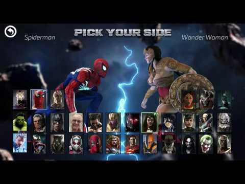 Spiderman Vs Wonderwoman | Marvel Vs DC Game (Gameplay)