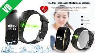 V9 Fitness tracker watch with blood pressure and heart rate monitor reviews
