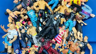 MASSIVE BOX OF OLD WWE ACTION …