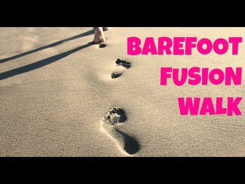 30 Minute Barefoot Fusion Walk   Full Length Low Impact Cardio Exercise for Beginners