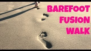30 Minute Barefoot Fusion Walk | Full Length Low Impact Cardio Exercise for Beginners