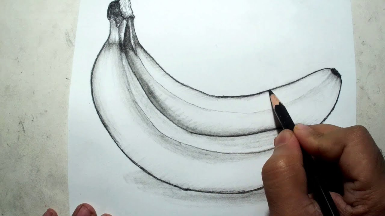 Banana Pencil Drawing