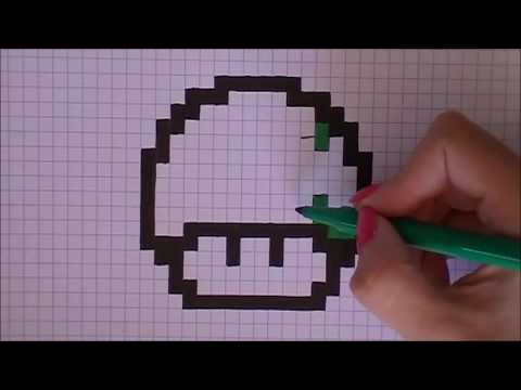 Pixel Art Champignon Mario Youtube
