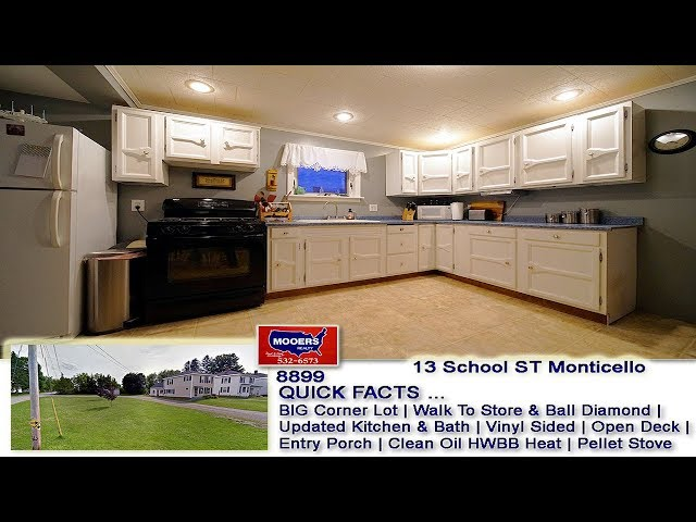 Maine Real Estate Listing | Home For Sale 13 School ST Monticello MOOERS REALTY #8899