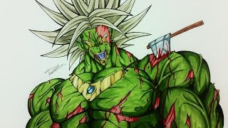 Drawing BROLY as a ZOMBIE | HALLOWEEN | Dragonball Z | TolgArt
