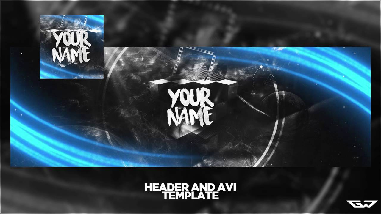 Abstract Twitter Header Avi Template Psd Easy To Change
