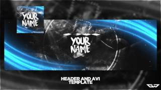 Abstract Twitter Header/avi Template Psd!  Easy-to-change Text