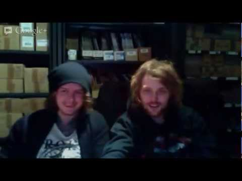 rock sound coverstars asking alexandria stopped by the office on friday january 18 to sit down and answer any of their fans questions live yup bonkers ben office fan