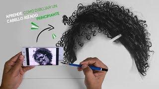 PRINCIPIANTE EN DIBUJAR? APRENDE trasladar imagen del móvil al papel I Como dibujar cabello rizado