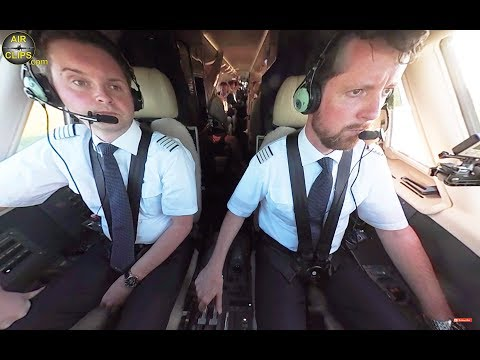 Private Jet STEEP ROCKET Takeoff, 4K 360° COCKPIT CAM!!! Citation Sovereign, Hahn Air! [AirClips360]