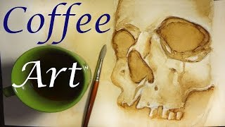 How To Paint With Coffee!