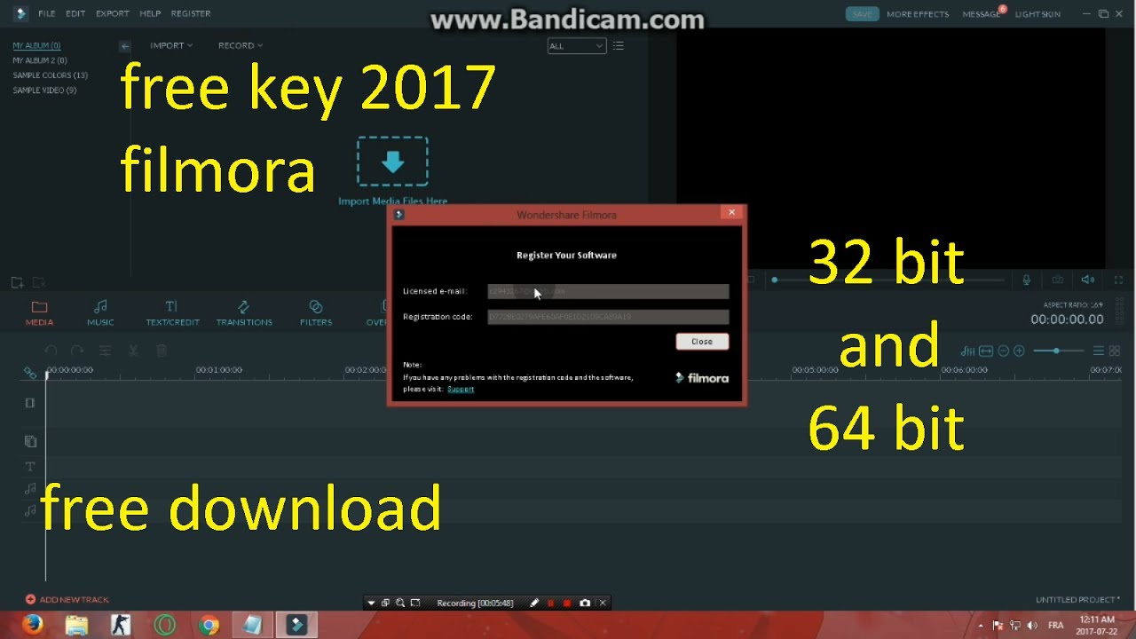 wondershare filmora  with crack 64 bit