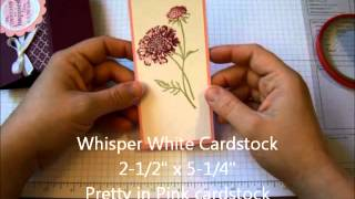 Free Standing Pop Up Card Video Tutorial