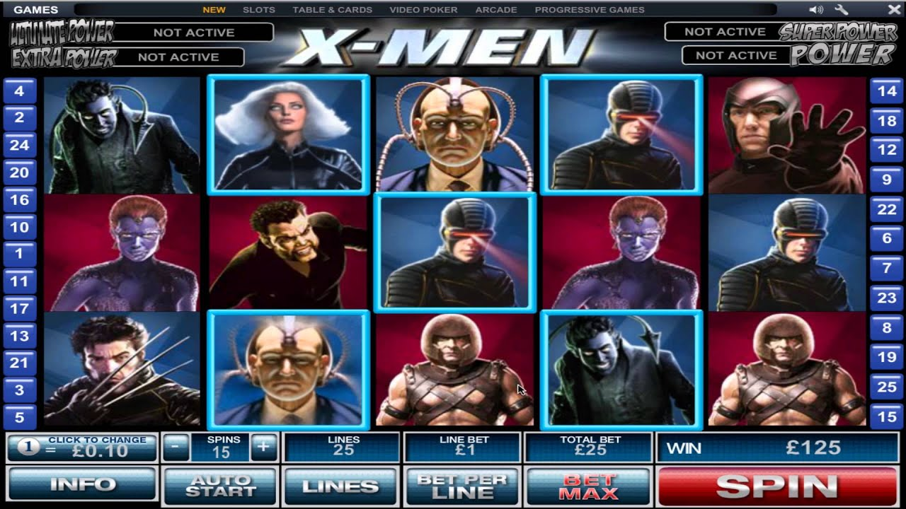 0736048b X-Men Slots - Play X-Men Slot Games Online for Free Here