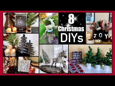 8 CHRISTMAS DIYS | DOLLAR TREE DECOR!