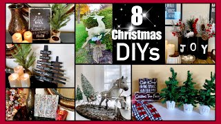 8 CHRISTMAS DIYS | DOLLAR TREE DECOR!