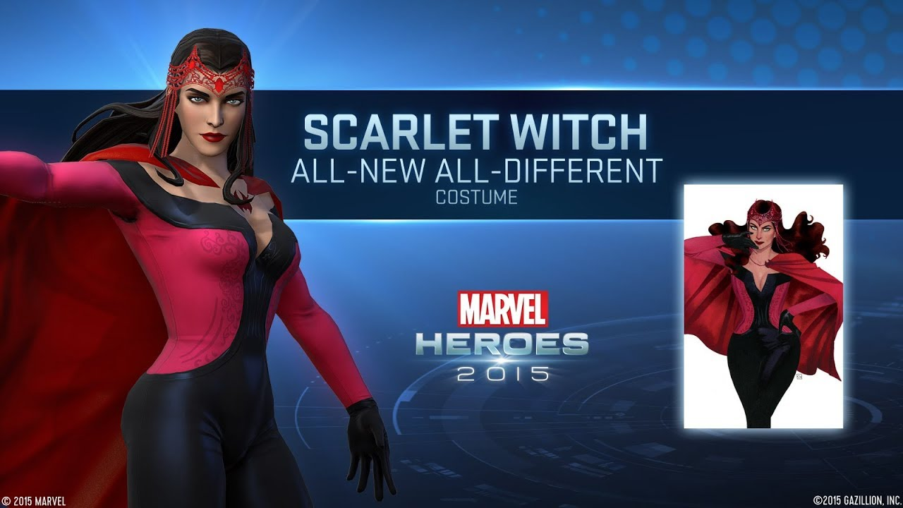 Marvel Heroes Omega - Scarlet Witch All New All Different Costume  sc 1 st  YouTube & Marvel Heroes Omega - Scarlet Witch All New All Different Costume ...