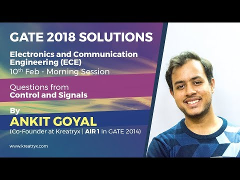 Kreatryx GATE 2018 ECE Solutions | Control and Signals