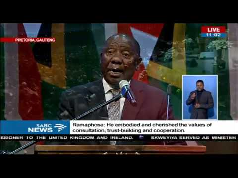 Pres. Ramaphosa delivers eulogy of the late ANC veteran Zola Skweyiya