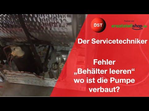 Bosch/Siemens Trockner-Behälter Leeren Wo Befindet Sich Die Pumpe