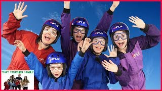 Family Fun Friday iFLY INDOOR SKYDIVING And ROCK CLIMBING!! / That YouTub3 Family