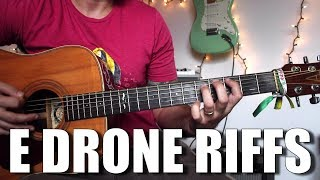 E Drone Riff with Tabs - How to write and play Drone Riffs - Guitar Tutorial