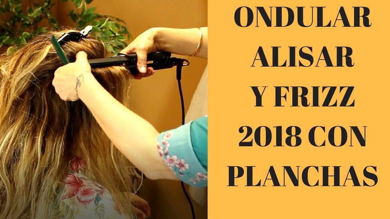 Como Rizar El Pelo Con Plancha Rápido 2018 How To Curl Hair With A Flat Iron