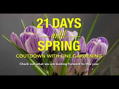 Join Fine Gardening In Counting Down To Spring!