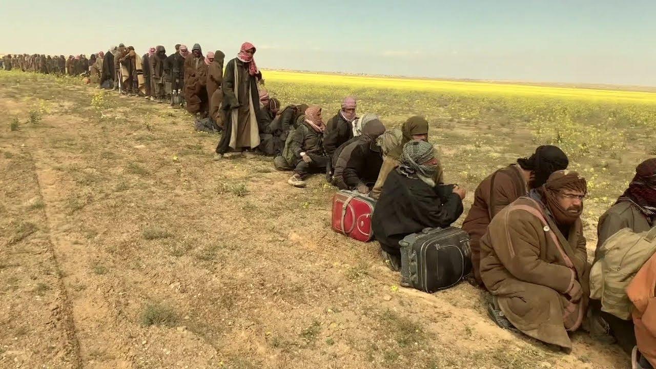 "فريق بي بي سي يدخل مخيم  الباغوز بعد ""تحريره """
