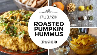 SPICED PUMPKIN HUMMUS | The best dip ever!