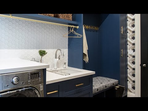 Makeover: A Bold Navy Laundry Room & Mudroom