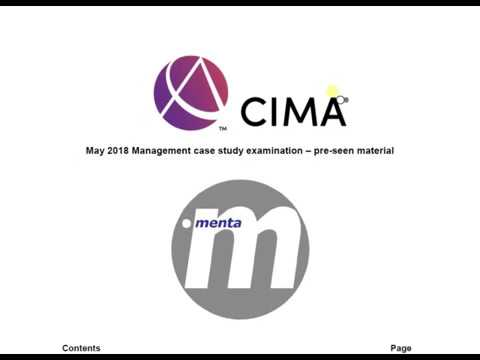 CIMA Management Case Study Pre-seen Analysis - May 2018 (Menta)