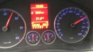 Vw Golf MK5 1.9 TDI DSG 0-180 km/h